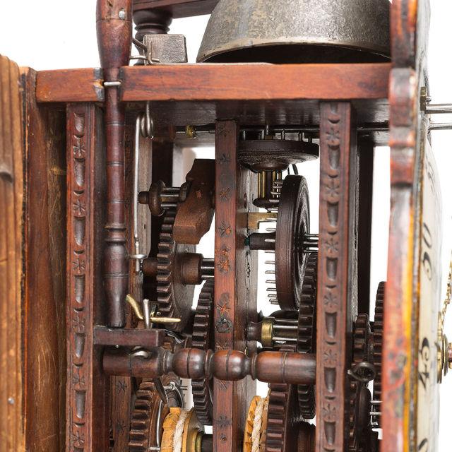 Kleine Appenzeller Holzräderuhr, Appenzell, um 1790
