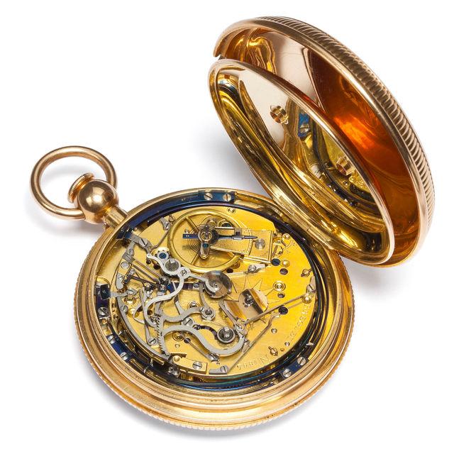 Goldtaschenuhr mit Grande Sonnerie und Minutenrepetition, Paris, 1806, Breguet No 1885