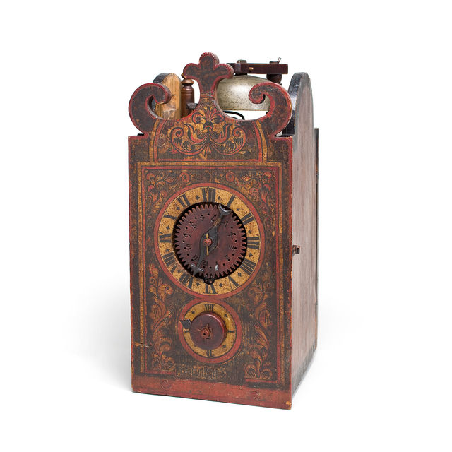 Davoser Holzräderuhr, Sertigtal, um 1670