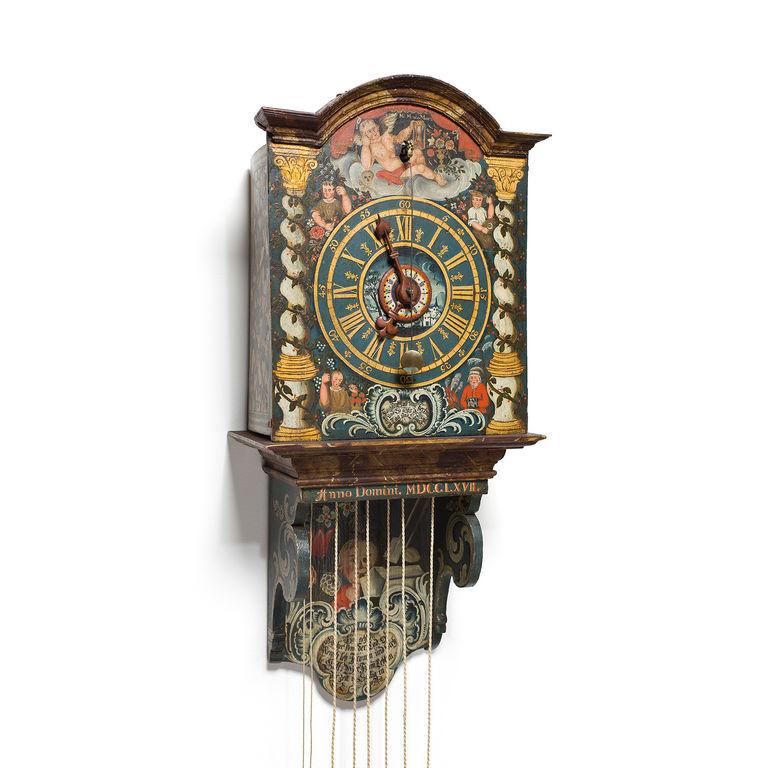 Appenzell wooden wheel clock
